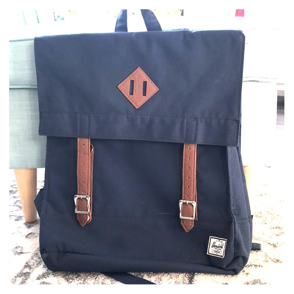 243547ce1b Herschel Supply Company Handbags - Herschel Navy Canvas Backpack